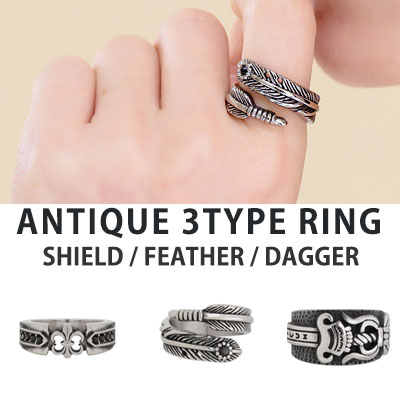 [UNISEX] ANTIQUE RING (3type)
