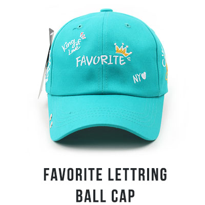 [UNISEX] FAVORITE LETTERING BALL CAP(4color)