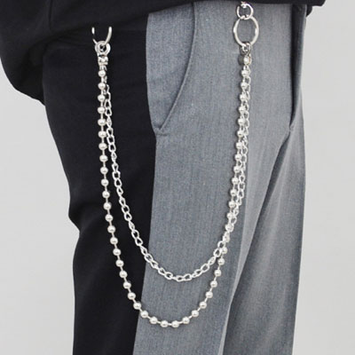 LAYERD DOUBLE RING CHAIN