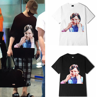 [UNISEX] SEVENTEEN UJI st. GIRL FACE PRINT SHORT SLEEVE TSHIRTS(2color)