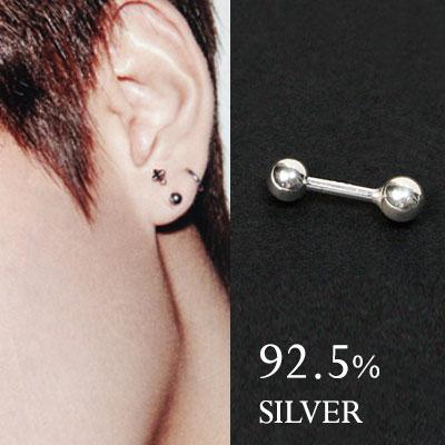 [92.5% Silver] BTS V スタイル! TAETAE zone MINI PIERCING(1ea)taehyung