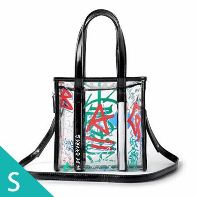 [S-SIZE] GRAFFITI CLEAR SQUARE BAG(4color)