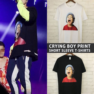 Superjunior Leeteuk st. CRYING BOY PRINT SHORT SLEEVE TSHIRTS(2color)