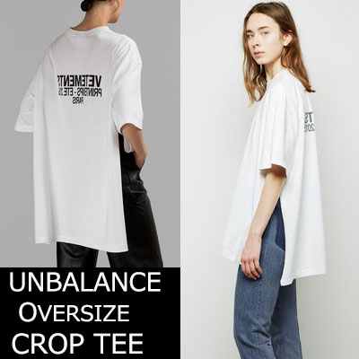 ★Prompt delivery★UNISEXTYPE★UNBALANCE OVERSIZE SIDE OPEN TEE-