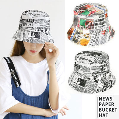[UNISEX] NEWSPAPER BUCKET HAT (2color)