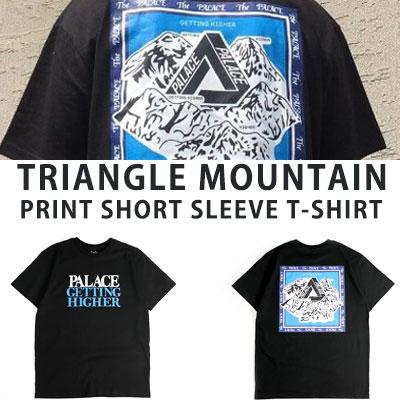 [UNISEX] TRIANGLE MOUNTAIN PRINT SHORT SLEEVE TSHIRTS