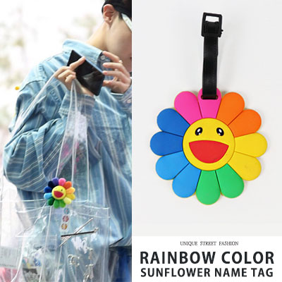 bts/j-hope st. RAINBOW COLOR SUNFLOWER NAME TAG