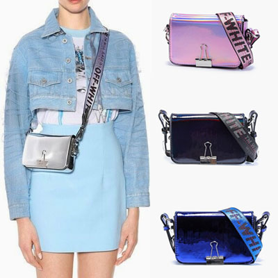 MIRROR COLOR LOGO BELT POINT MINI BAG(4color)