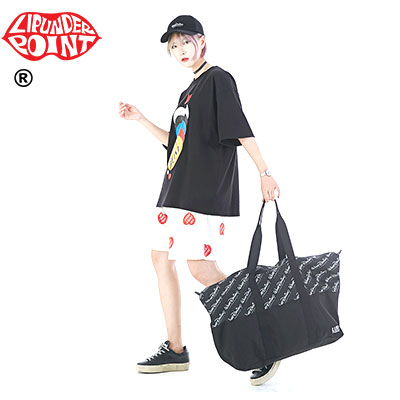 [LIP・UNDER・POINT] WHAT DESIGN ? DUFFEL BAG -BLACK