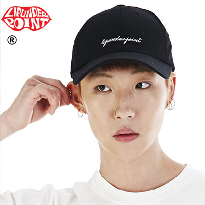 [LIP・UNDER・POINT] LIP・UNDER・POINT LOGO BALLCAP -WHITE/BLACK