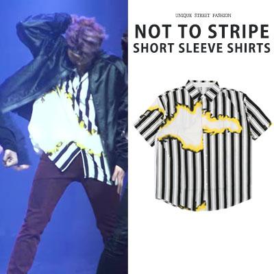 BTS RM st./RAP MONSTER/NAMJUN/NOT TO DAY/STRIPE SHORT SLEEVE SHIRTS