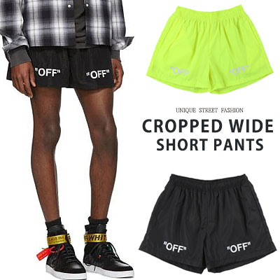 [UNISEX] CROPPED WIDE SHORT PANTS(2color)