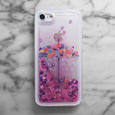 UMBRELLA GLITTER PHONE CASE