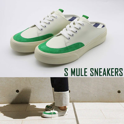 [24.5 ~ 28.0cm] S MULE SNEAKERS -green