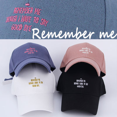 [UNISEX] REMEMBER ME BALL CAP(5color)