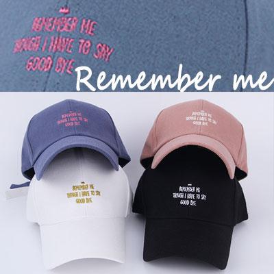 [UNISEX] REMEMBER ME BALL CAP(5color)