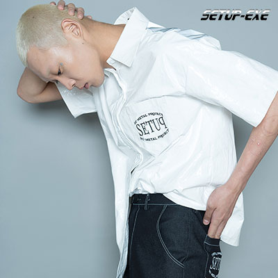 【SETUP-EXE】BACK ZIP SHIRT - WHITE