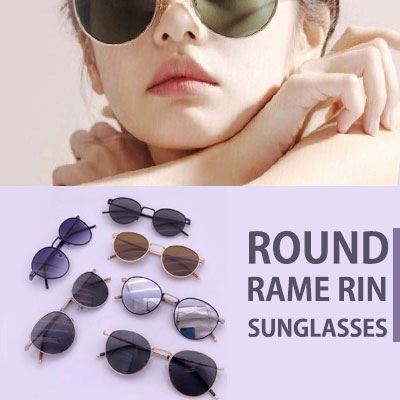 ROUND FRAME RIN SUNGLASSES(6color)