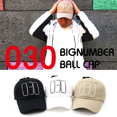 [UNISEX] 030 BIG NUMBER PATCH BALL CAP(3color)