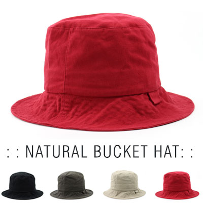[UNISEX] NATURAL  BUCKET HAT(4color)