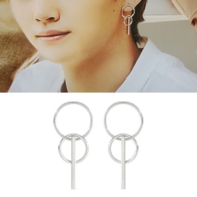 GOT 7 style! TWO RING AND ONE STICK PIERCE(2color)