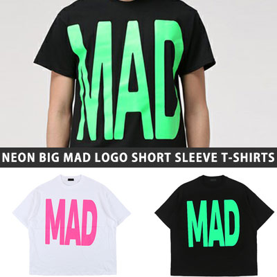 [UNISEX] NEON BIG MAD LOGO SHORT SLEEVE TSHIRTS(2color)