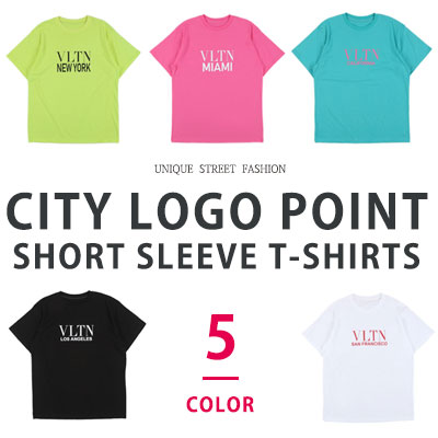 [UNISEX] CITY LOGO POINT SHORT SLEEVE TSHIRTS(5color)
