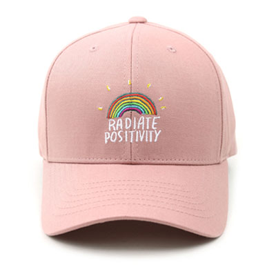[UNISEX] RAINBOW EMBROIDERY BALL CAP(4color)