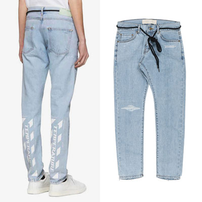 STRING POINT LIGHT BLUE JEANS(2size)