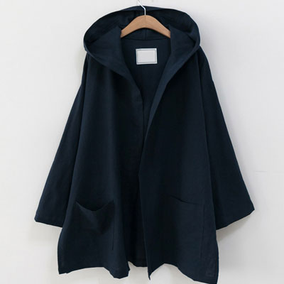 [UNISEX] LINEN ROBE HOOD CARDIGAN (4color)