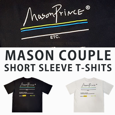 [UNISEX] MASON COUPLE SHORT SLEEVE TSHIRTS(2colos 2size)