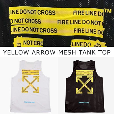 [UNISEX] YELLOW ARROW MESH TANK TOP(2color 2size)