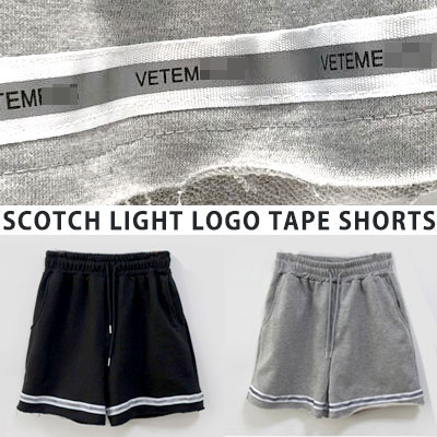 [UNISEX] SCOTCH LIGHT LOGO TAPE SHORTS(2color)
