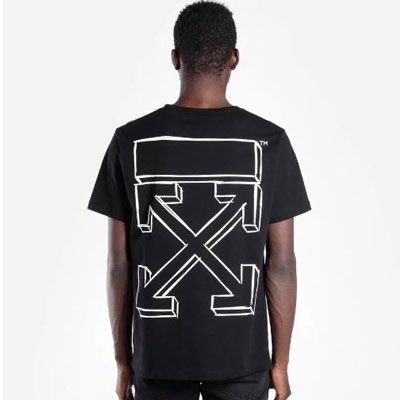 [UNISEX] SKETCH ARROW BACK PRINT SHORT SLEEVE TSHIRTS(2color 2size)