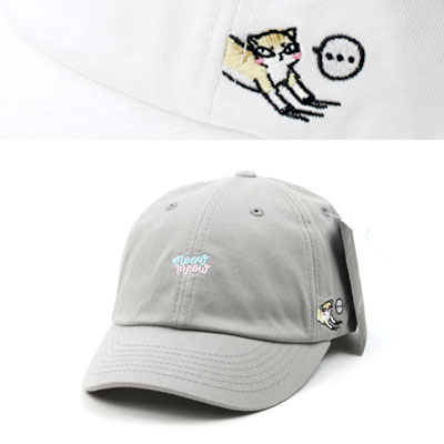 [UNISEX] SIDE CAT POINT BALL CAP(4color)