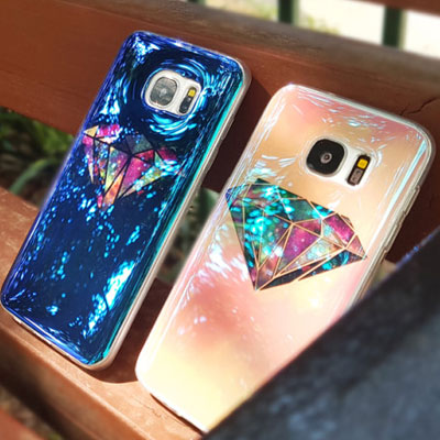 GALAXY DIAMOND JELLY PHONE CASE(2color)