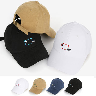 [UNISEX] V SQUARE FRAME BALL CAP(4color)