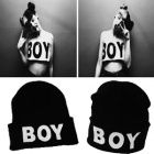 ★DAY SHIPPING★BOY LONDON print beanie/ overseas fashion