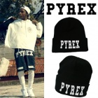 South Korean popular item ★ PYREX Print beanie