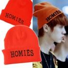 International celebrities' favorite ★ Korean popular group EXO style! orange beanie HOMIES