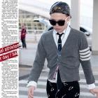 GD, Kim Soo Hyun, Lee Jung Jae style | Th * m browne style WHITE 4stripe Cardigan Gray (2TYPE)