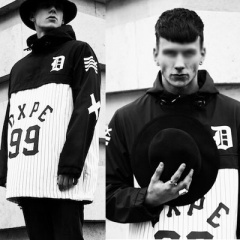 Street fashion mail order  . Dope Ch @ f st DXPE 99 Baseball windbreaker jacket