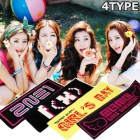 Korea idle Toy Store | Korean Garuguruppu slogan high quality fluorescent cheering towel (4type)