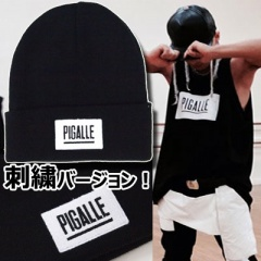 Taeyang Of BIGBANG STYLE! PIGALL * Logo embroidery BEANIE