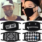 Necessities fashion item is loved by South Korea idle us ☆ Unique fashion black mask (12type)