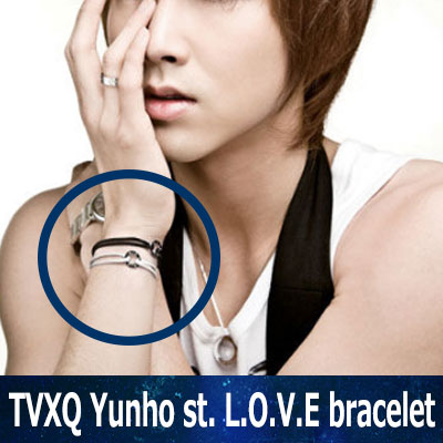 TVXQ (東方 神 起) Yunho & LOVE bracelet worn by many stars (RED, BLACK, BLUE)