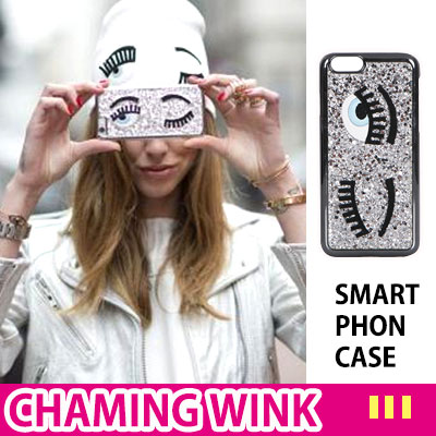 Pleasant and attractive woman winking character smartphone case / CHAMING WINK SMART PHON CASE