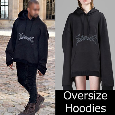 19F/W NEW★G-DRAGON,Kanye West  st. Graffiti logo oversize Hoodie / large size / BIG SIZE HOODIE-BLACK