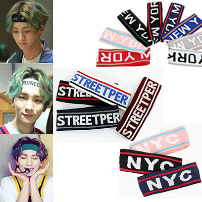 Popularity of discount recently has been popular in street fashion KEY of SHINEE also loved to use the hair band (three) #D