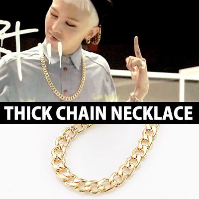 G-DARGON 니 가 뭔데 Nigamonde (Who You?), KANYE STYLE! GOLDERN WAVE THICK CHAIN NECKLACE